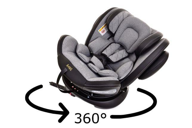 Bari Obrotowy 360 st Fotelik Samochodowy dla Dzieci z ISOFIX 0-36 kg