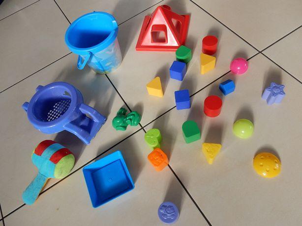 wiaderko, sitko 24 sztuki zabawki klocki dla dzieci