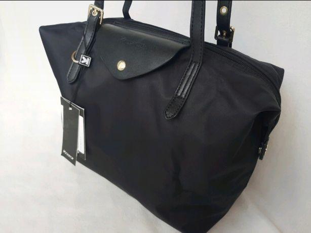 Duża czarna torba shopperka KAZAR shopping bag