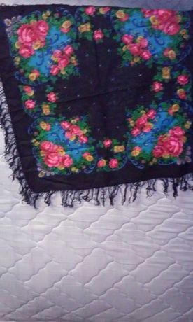 Новые украинские шерстяные платки с бахромой
