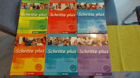 Schritte plus Hueber niveau A1, A2, B1 komplet 6 części