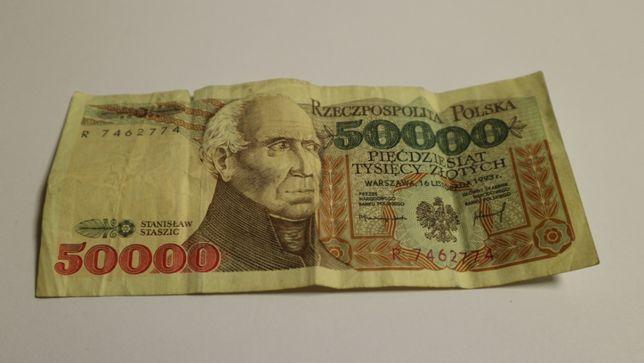 Banknot 50000 zł seria R rok 1993