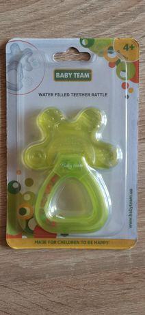 Прорезыватель-погремушка Baby Team c водой (Салатовый)
