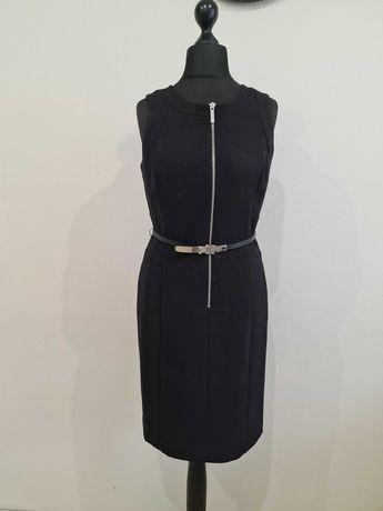 Теплое черное платье с замком michael kors
