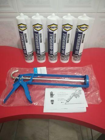 Vendo 5 tubos de silicone Bostik com pistola para aplicação.