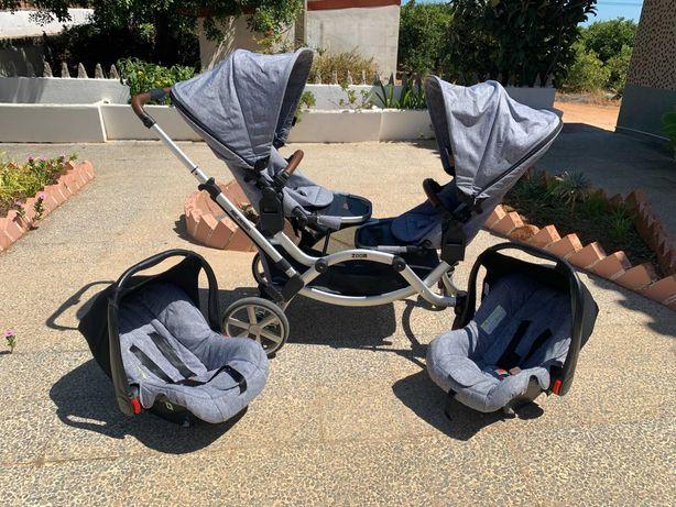 ABC Design – Carrinho Gémeos com 2 Ovinhos – Graphite Grey de 2019