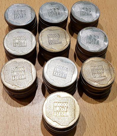 ZESTAW 100 szt monet 200 z 1974 XXX LAT PRL MAPKA - srebro