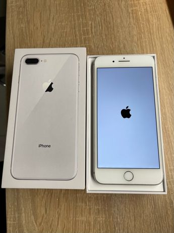 Apple IPhone 8 plus 64gb silver w idealnym stanie