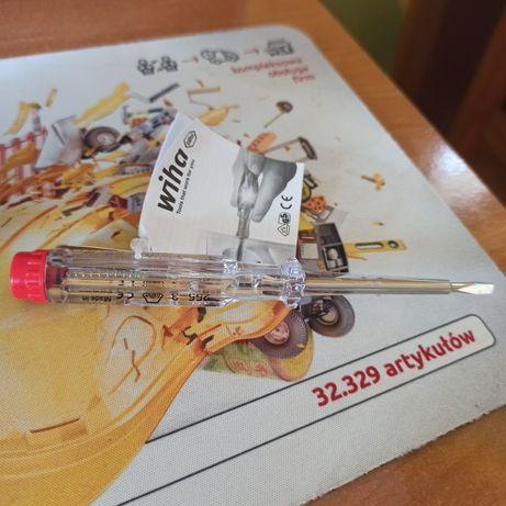 Wiha Próbnik napiecia 220-250 V plaski przezroczysty, z klipsem