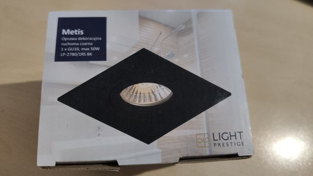 Oprawa podtynkowa LIGHT PRESTIGE Metis, czarna GU10 LP-2780/1RS BK
