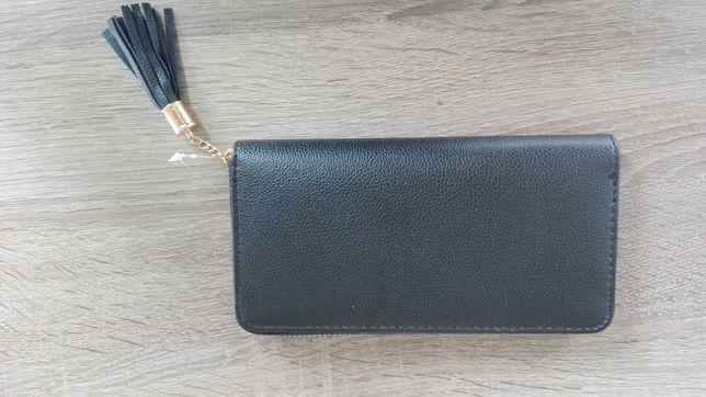 Nowy portfel damski czarny