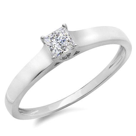 Кольцо новое! Белое золото, бриллиант