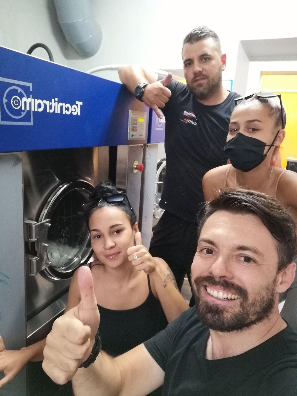 Máquina de lavar roupa industrial 20kg ou Self-service calandra