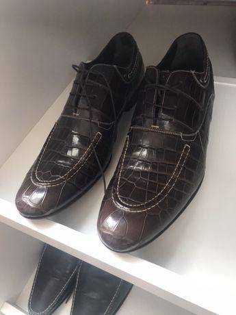 Абсолютно новые туфли из кожи крокодила. Dolce & Gabbana.