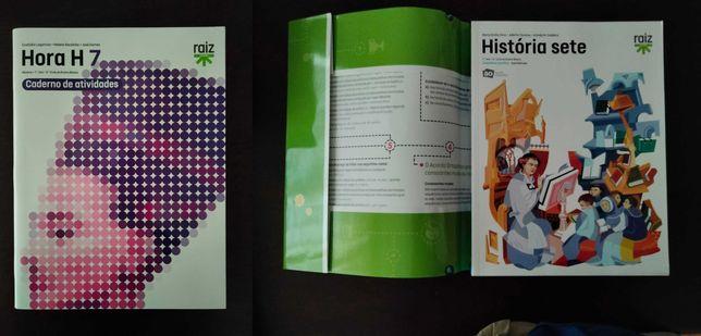 Manuais e Livros de apoio de História 7 ano (Como Novos)