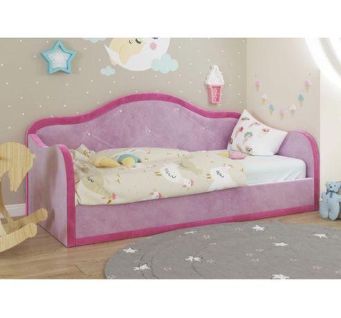 Кровать Дикси мягкая с нишей для белья Городок Мебели