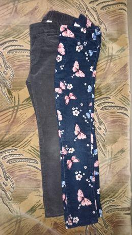 Штаны вильветовые H&M