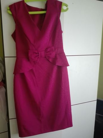 Fuksja sukienka