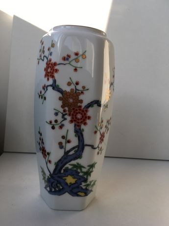 Vaso jappnês Arita-yaki, cerca 1960, pintado á mão