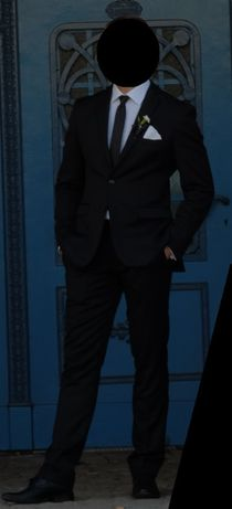 Elegancki czarny garnitur Giacomo Conti - rozm 182/100/86