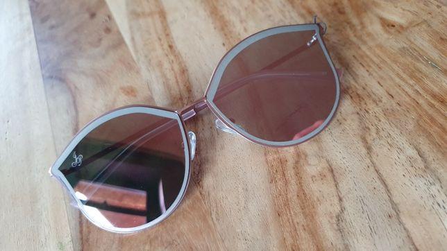 Jeppers Peppers oryginalne okulary przeciwsłoneczne lustrzanki cat eye