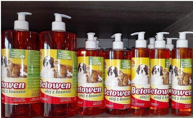 Betowen - olej z łososia - pojemności 0,25l 0,5l 1l