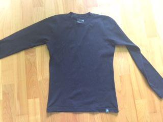 Bluzka - bielizna narciarska - długi rękaw - czarna - L