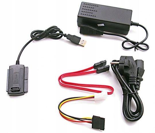 Adapter HDD IDE PATA SATA 2.5 3.5 USB + zasilacz