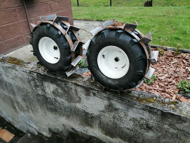 Traktorek kosiarka stalowe nakladki na opony
