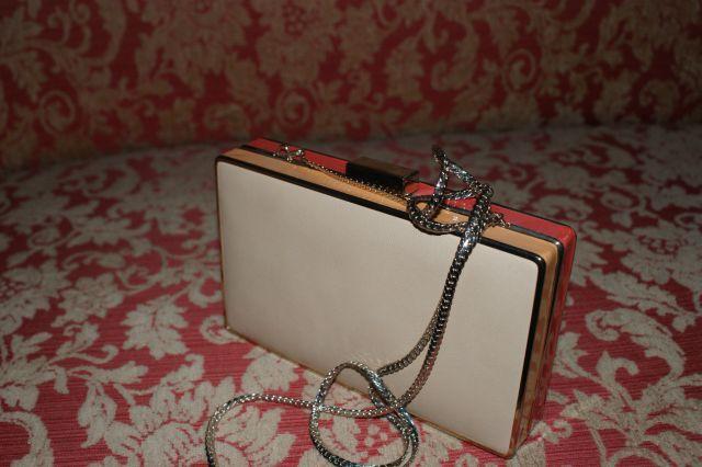 Pudełko Zara, pudełeczko, torebka mała, na łańcuszku, beż,beżowy, nowa