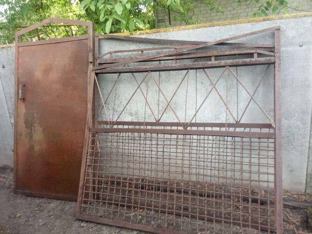 Продам ворота и калитку новые