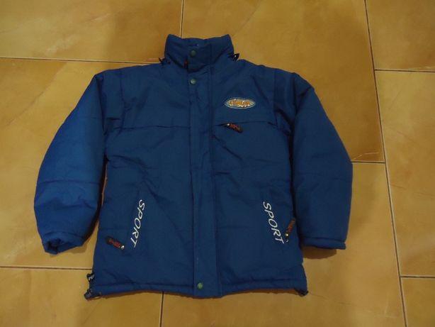 Фирменный пуховик, куртка зимняя на мальчика 6-7 лет, 100% пух, дёшево