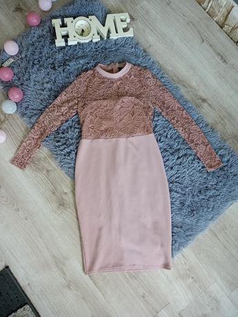 Sukienka olówkowa z koronka xs/34