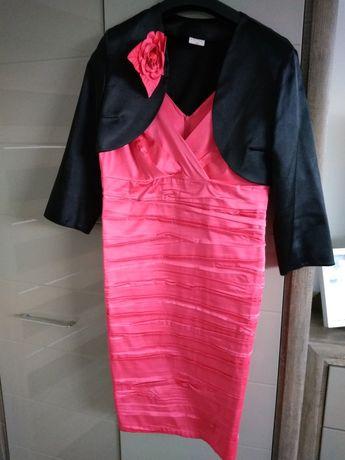 Sukienka 46 malinowa