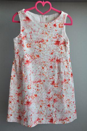 Zara piękna wizytowa sukienka ideał rozm. 128