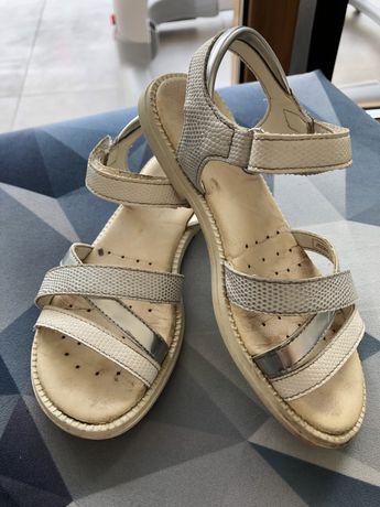 Biało srebrne sandalki Geox r. 29