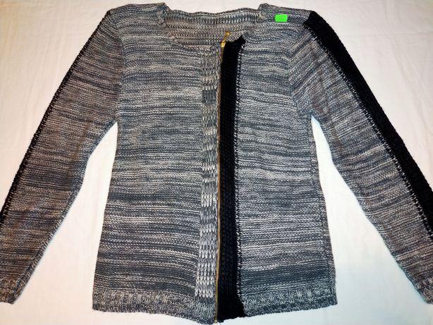 Sweterek młodzieżowy czarno szary 38-40