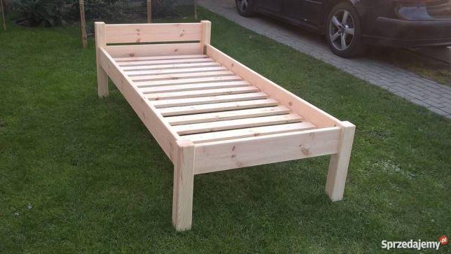 Nowe łóżko drewniane sosnowe 90x200 ze stelażem