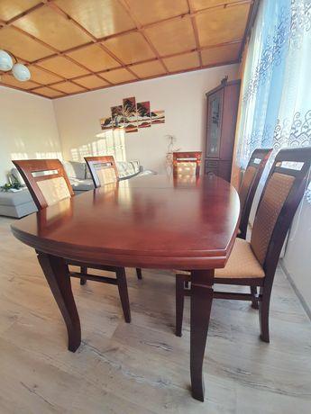 Stół rozkładany do jadalni (160/210/260) + krzesła