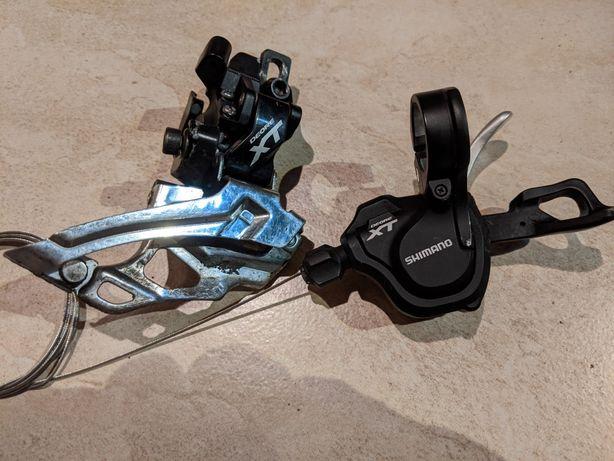 Przerzutka przednia z manetką Shimano XT