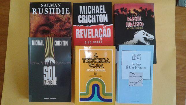 Livros: Revelação, Parque jurássico; A terceira vaga e outros