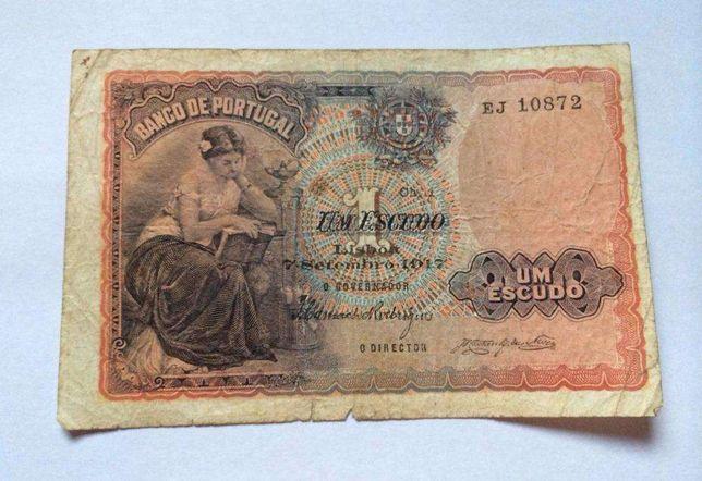 Nota 1 Escudo 1917 Portugal