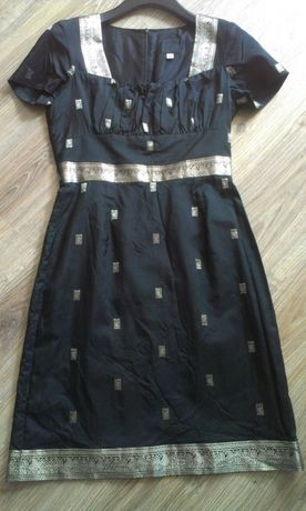 Anna Sui jedwabna sukienka od projektantki S