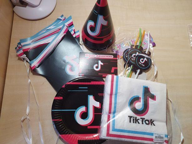 Одноразовая посуда для Tik Tok вечеринки
