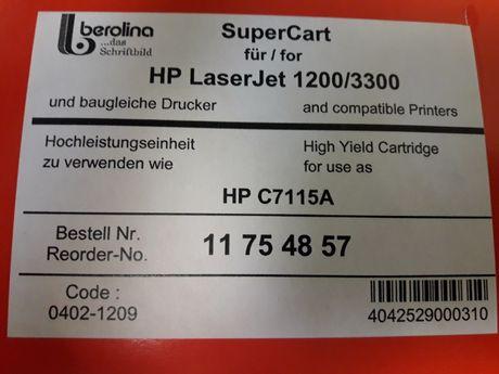 Toner Berolina do HP LaserJet 1200/3300 HP C7115A.