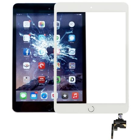 Vidro/Touch Com botao home e conector IC para Ipad Mini 3