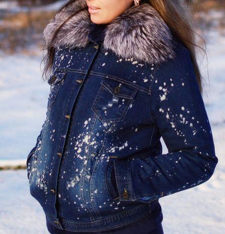 Зимняя, джинсовая курточка. Куртка.Хит сезона 2019.