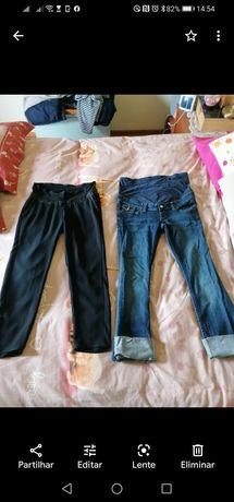 2 pares calças de grávida