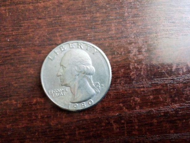 Moneta quarter dolar 1980