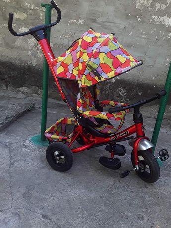 Трехколесный велосипед с надувными колесами
